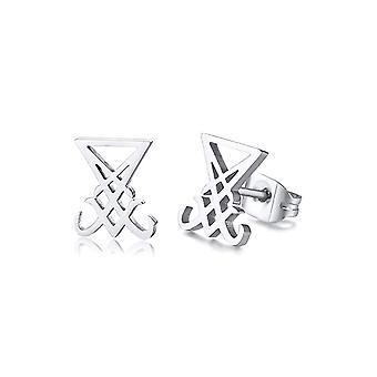Attitude Clothing Lucifer's Sigil Stud Earrings