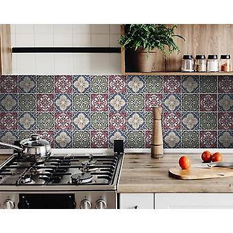 """8"""" X 8"""" Vintage Multi Removable Peel and Stick Tiles"""
