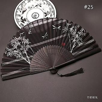 Chinesische Vintage Stil Falten Fan Kunst Handwerk Geschenk Tanz Hand Fan Home Decoration Ornamente(#25)