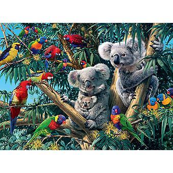 Ravensburger Koalas puupalapelissä (500 kappaletta)