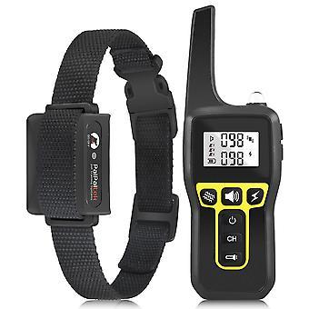 1000M Range Receiver Training Collar Electric Shock Vibration Sound Bark 3 Mode reîncărcabil