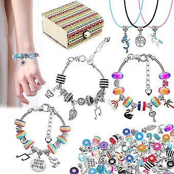 Geschenke für Mädchen 5 6 7 8 9 10 11 Jahre, 62 Armbänder Selber Machen Basteln mit Halskette Charms