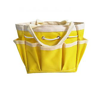 Gardening Tool Storage Bag , Garden Tool Holder Tote Bag Heavy Duty For Tool Set, Kit, Garden Tool Bag For Indoor And Outdoor, Organiseryellow