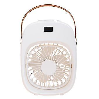 High quality portable household mini air conditioning fan usb 200ml spray humidifier white #4504