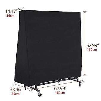 Table tennis billiard table cover dustproof waterproof sunscreen oxford cloth black 160x85x160cm