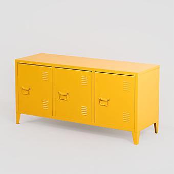 SKLUM Tv-kast Locker in metalen Pohpli Staal Geel – curry