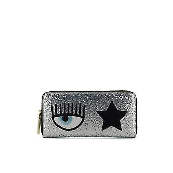 Chiara Ferragni Eyestar Silver Wallet