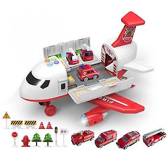 Aircraft Simulation With Lights Music Track Inertia Toy Airplane  Large Size Passenger Plane Kids Airliner Toy Car Gifts Fire