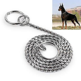 35cm Pet P Chain Pet Collars Pet Neck Strap Dog Neckband Snake Chain Dog Chain  Solid  Metal Chain
