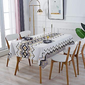 Anti-Fouling rechteckige Tischdecke, wasserdichte Tischdecke, PVC-Tischdecke, waschbare und pflegeleichte Tischdecke, verwendet für Picknick-Tisch Gartentisch Kitc
