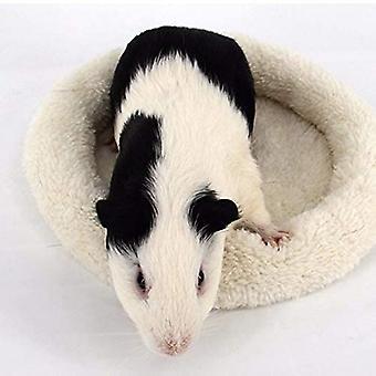 Comfortable Round Warm Fleece Hamster Bed Sleep Mat For Small Pets
