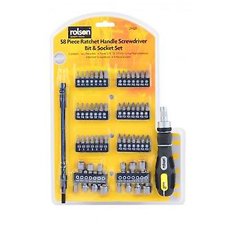 58 Piece Ratchet Handle Bit Tournevis et douilles Avec Flexi Extension
