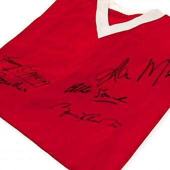 Manchester United camiseta firmada de 1958 Busby Babes