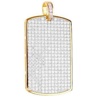 Premium Bling - 925 sterling sølv hunden tag anheng-gull