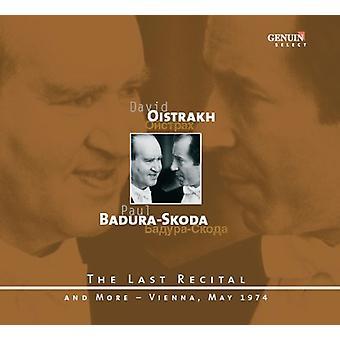 Mozart/Schubert/Beethoven - Oistrakh, Badura-Skoda: The Last Recital - Vienna, May 1974 [CD] USA import