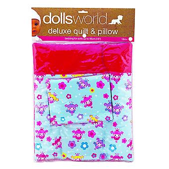 Dolls World 8216 Deluxe Quilt and Pillow