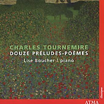 C. Tournemire - Charles Tournemire: Douze Pr Ludes-Po Mes [CD] USA import