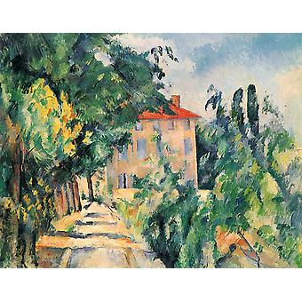 Paul Cezanne - Path to the House Poster Print Giclee