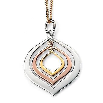 925 Серебряный позолоченный ожерелье розовое золото тенденции