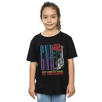 Guns N Roses meisjes gebruiken uw illusie Rose T-Shirt