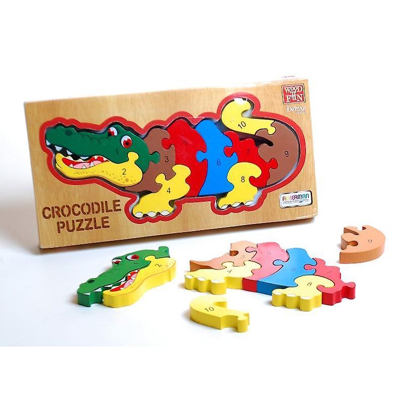 Traditional Wood 'n' Fun 1 to 10 Crocodile Puzzle