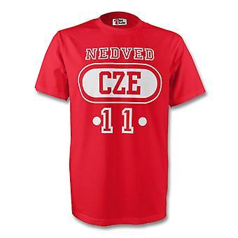 Pavel Nedved Tschechien Cze T-shirt (rot) - Kids