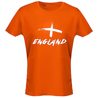 England Painted Football Womens T-Shirt 8 Colours (8-20) by swagwear