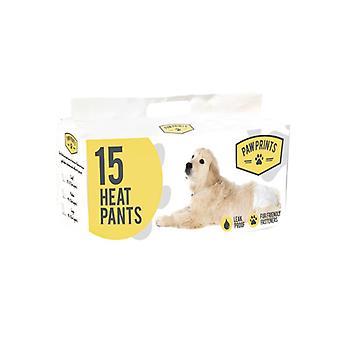 足印刷犬のための使い捨て可能な熱おむつの 15 パック