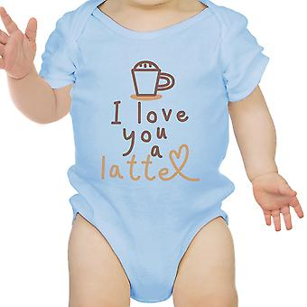 Hou een Latte Baby Romper Gift hemelsblauw