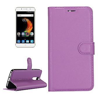 Tasche Wallet Premium Lila für ZTE Blade A610 Plus Schutz Hülle Case Cover Etui Neu