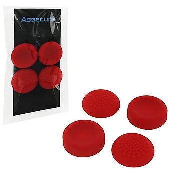Grip di pollice in Silicone assecure PS4: Concavo e convesso - rosso