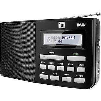 Dual DAB 5,1 radio portabil DAB +, FM negru