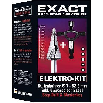 Exact 70606 HSS stap boor 7-32,5 mm cilinder schacht 1 set