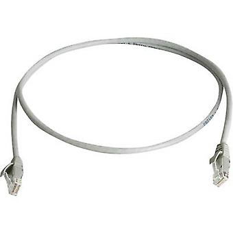 Telegärtner RJ45 Network cable, patch cable CAT 6 U/UTP 1.00 m Grey Flame-retardant, Halogen-free