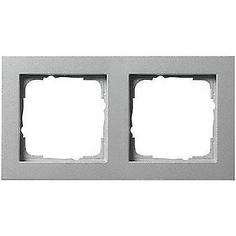 GIRA 2 x Frame E2, standaard 55, systeem 55 Aluminium 0212 25
