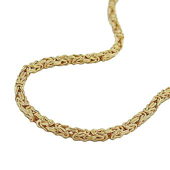 Król 3x3mm łańcuch kwadratowy diamantiert gold plated AMD 45 cm