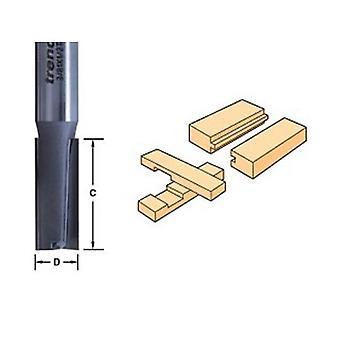 Trend 3/2 X 1/4 volframkarbid två flöjt Cutter
