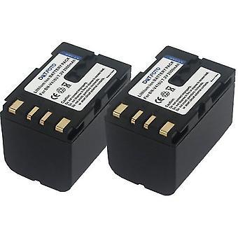 2 x Dot.Foto JVC BN-V416, BN-V416U Replacement Battery - 7.2v / 2000mAh