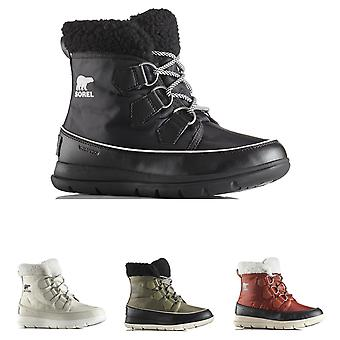 Womens Sorel Explorer Carnival Winter Waterproof Nylon Hiking Ankle Boots