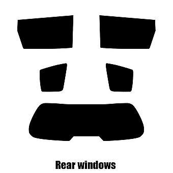 Pre skære vindue nuance - Kia Carens 5-dørs Hatchback - 2002 til 2006 - bag windows