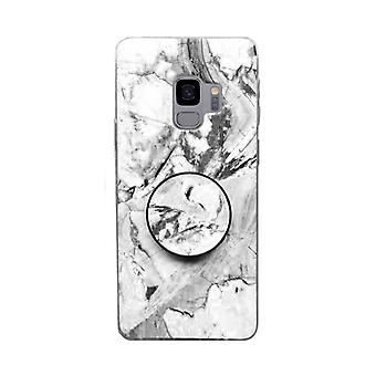 Cas en marbre avec porte-téléphone - Samsung Galaxy S9