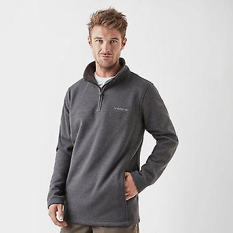 New Brasher Men's Fairfield Quarter-Zip Fleece Dark Grey