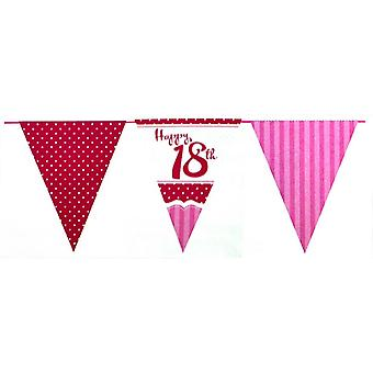 Creative Party Perfectly Pink Happy 18th Birthday Bunting