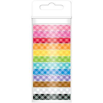 Doodlebug monochromatisch Washi-Tape 8mmx12yds 12/Pkg-pastel
