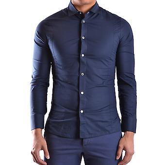 Bikkembergs Ezbc101029 Men's Blue Cotton Shirt
