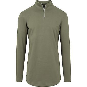 Long pauvre chemise longue en forme de tortue zip de Urban Classics hommes