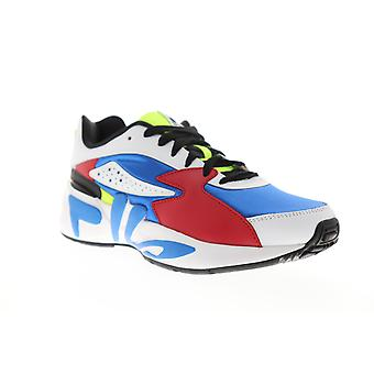 Fila Mindblower  Mens Blue Leather Casual Lifestyle Sneakers Shoes