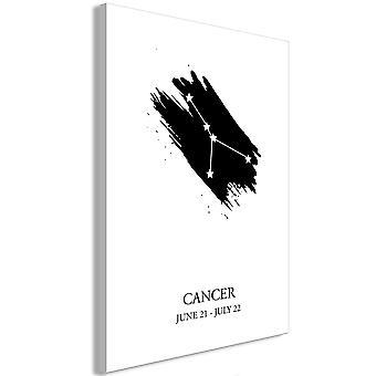 Wandbild - Zodiac Signs: Cancer (1 Part) Vertical