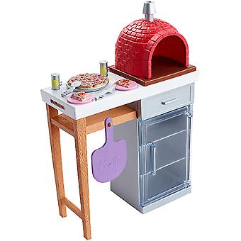 Barbie Fxg39 Outdoor Furniture Set, Brick Pizza Oven