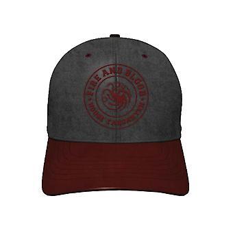 Game Of Thrones Baseball Cap Targaryen Fire and Blood Logo new Official Snapback